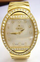 Pre Owned Ebel Satya 18KT Yellow Gold Diamond Watch with MOP Face