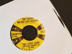 FOUR LADS Things We Did Last Summer  Put a Light in the Window 45 RPM Columbia