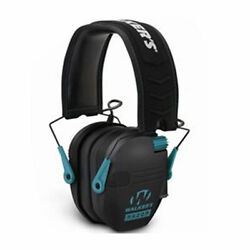 Walkers Razor Slim Electronic Ear Muffs with NRR 23 dB Black amp; Teal $49.99