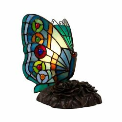 Tiffany Style Butterfly Table Desk Lamp Home Decor Lighting Stained Glass  $39.99