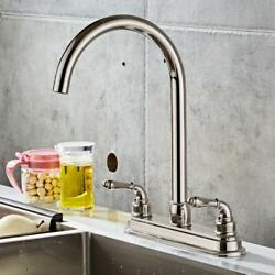 NEW 2 handle Single Hole RV Mobile Home Kitchen Sink Faucet Stainless Steel $25.59