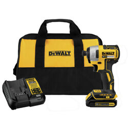 DEWALT 20V MAX Compact Brushless 1/4 in. Impact Driver DCF787C1R Recon $89.99
