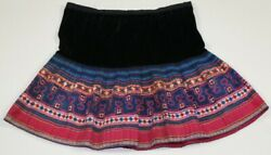 Vintage Tribal exotic chinese miao people's old hand batik embroidery skirt