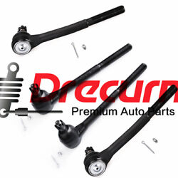 4Pcs 2 Inner 2 Outer Tie Rod End fit for Buick Cadillac Chevrolet  $39.98