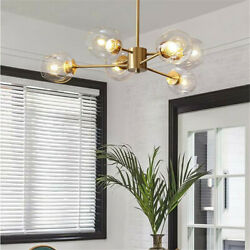 6 Light Glass Globe Chandeliers Molecular Pendant Ceiling Fixtures Hanging Lamps $115.61