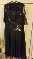 BLACK  Women Formal Evening Prom Gown  HANDMADE SIZE S  PRE-OWNED $49.00