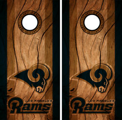 Los Angeles Rams Cornhole Wrap NFL Decal Wood Vinyl Gameboard Skin Set YD322