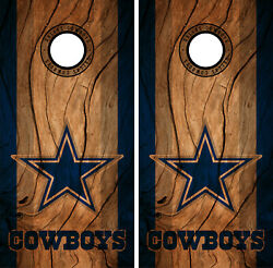 Dallas Cowboys Cornhole Wrap NFL Decal Wood Vinyl Gameboard Skin Set YD331