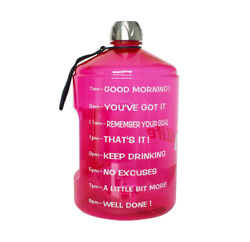 BuildLife 1 Gallon Water Bottle Motivational Fitness Workout With Time Marker L