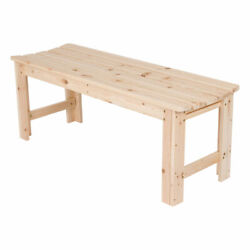 Shine Company 4 Foot Backless Yellow Cedar Bench for Garden and Patio Natural
