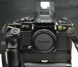 **SPECIAL * CANON F-1 BLACK BODY Los Angeles 1984 Olympic Edition.  MOTORDRIVE