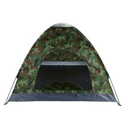 3 4 Person Outdoor Camping Waterproof 4 Season Folding Tent Camouflage Hiking US $14.98