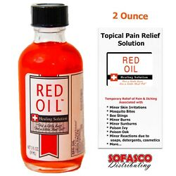 Red Oil Healing Solution First Aid Topical Pain and Itch Relief 2oz $15.85