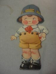 1920#x27;s Valentines Boy With Valentine in Pocket That Moves 8 1 4#x27;#x27; tall $7.50