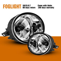 For Nissan Titan Armada Fog Lights Assembly Bumper Lamps Clear Lens 2pc  $25.79