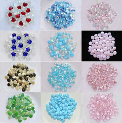 Glass Gems Mosaic Pebbles Marbles Flat Bottom Vase Fillers - 12 Color Choices!
