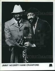 Press Photo Musicians Jimmy McGriff and Hank Crawford - syp05526
