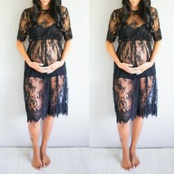 Womens Maternity Summer Sexy Lace Photography Fancy Dresses Pregnancy Dresses US $13.66