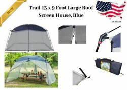Large Outdoor Screen Mesh Tent Camping Cover Blue Insect Bug Protection Portable $78.07