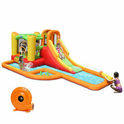 Heavy Duty Commercial Inflatable Water slide park Bounce House w Blower Yard