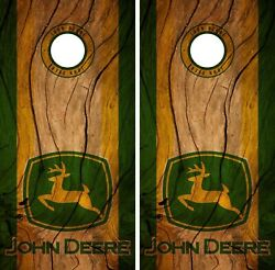 John Deere Cornhole Wrap Decal Wood Stickers Vinyl Gameboard Skin Set YD264