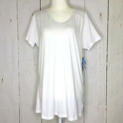 Columbia Women's Large Everything She Needs V Neck Tee T Shirt Knit Top White