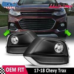 2017-2019 Fits Chevy Trax Pair Clear DOT Lens Fog Lights Lamps+Wiring+Switch Kit $63.91