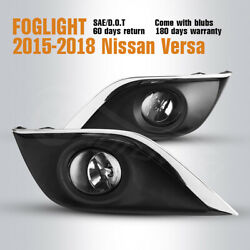 Fit 15 18 Nissan Versa Driving Fog Lights Clear Len Pair Lamp Switchamp;Wiring Kit $57.93
