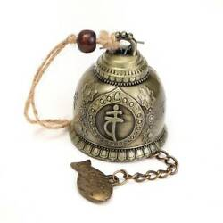 Buddha Statue Pattern Bell Blessing Feng Shui Chime Home Car Hanging Decor Wind
