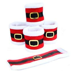4Pcs Christmas Napkin Rings Napkin Holder Party Banquet Dinner Table Decor Red
