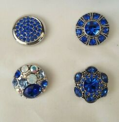 Set of 4 Royal Blue Authentic GInger Snaps Brand Snaps 20mm Regular Size18.00