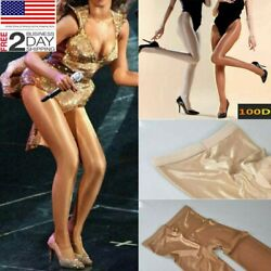 240lbs Plus Size Women Pantyhose Oil Shiny Glossy Stocking Tights Sheer Hosiery $13.99