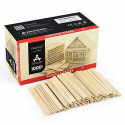 1000PCS Popsicle Sticks Wooden Food Grade Craft Sticks Ice Cream Stick Craft US