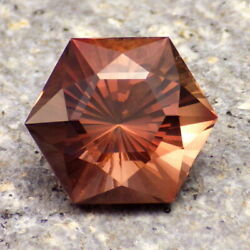 COPPER-RED OREGON SUNSTONE 7.44Ct CLARITY SI2 FACETED IN THE USA VIDEO $417.00