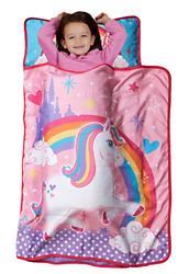 Baby Boom Nap Mat Unicorn Set w Pillow and Fleece Blanket for Toddler Daycare