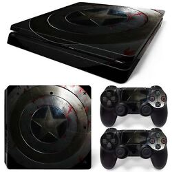 PS4 Slim Console & 2 Controllers Star Vinyl Skin Wrap Decal