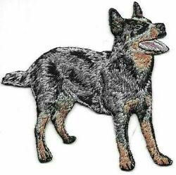 3 1 8quot; x 3 1 4quot; Black Australian Cattle Dog Breed Embroidery Patch $3.99