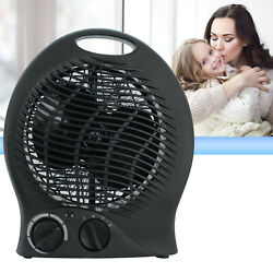 Portable Electric Space Heater 3 Settings 1500w Fan Forced Adjustable Thermostat $21.99