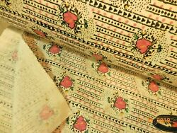 Vintage Cotton Sheeting Fabric Shabby Decor Pink Roses 91quot; Wide $12.99