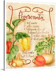 Tuscan Kitchen Canvas Wall Art Print Vegetables Home Decor $34.99