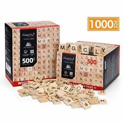5001000Pcs DIY Wooden Scrabble Tiles Scrabble Letters Crafts Crossword Game Toy