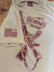 Zero Foxtrot Men's Canned Goods Graphic T-Shirt xl tan Wolverines AR-15