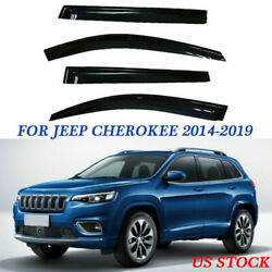 FOR 14-19 JEEP CHEROKEE DEFLECTOR CAR WINDOW VISOR VENT FRONT REAR REPLACE Y9GJ