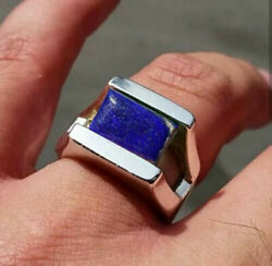 Sterling Silver Handmade Certified AAA+Quality Lapis Lazuli Handmade Mens Ring