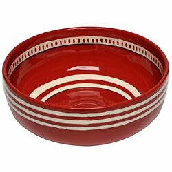 Thompson & Elm M. Bagwell Colors Collection Ceramic Serving Bowl (Red)