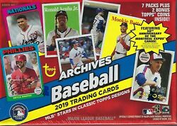 2019 Topps ARCHIVES Baseball MLB Baseball TradingCards 7+1 BonusPack BLASTER Box