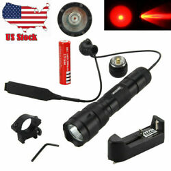 Tactical Flashlight Mount Rifle LED Hunt Torch Lamp Light Battery Rechargeable $16.99
