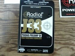 Radial J33 Turntable Direct Box Phono Preamp DI