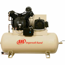 Ingersoll Rand Electric Stationary Air Compressor- 15 HP 50 CFM At 175 PSI 200Vs