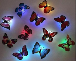Butterfly Led Night Lights 12 Pieces Colors-Auto-Change Gentle Decorate Bedroom